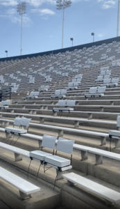 Guest stadium pod seating