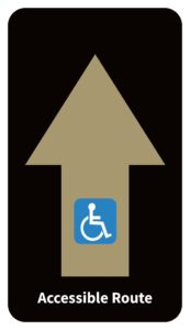 Accessible route signage