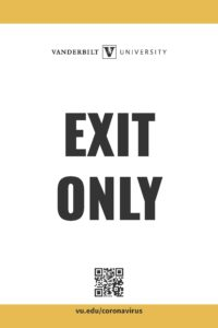 Exit only signage