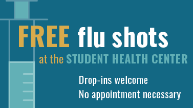 Flu shots for students at the student health center