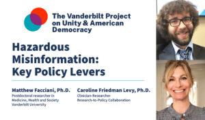 Hazardous Misinformation: Key Policy Levers