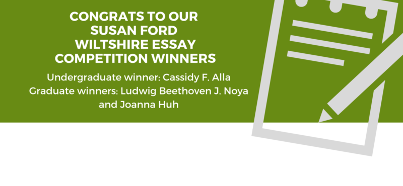 Congrats to the Wiltshire Essay Competition Winners!