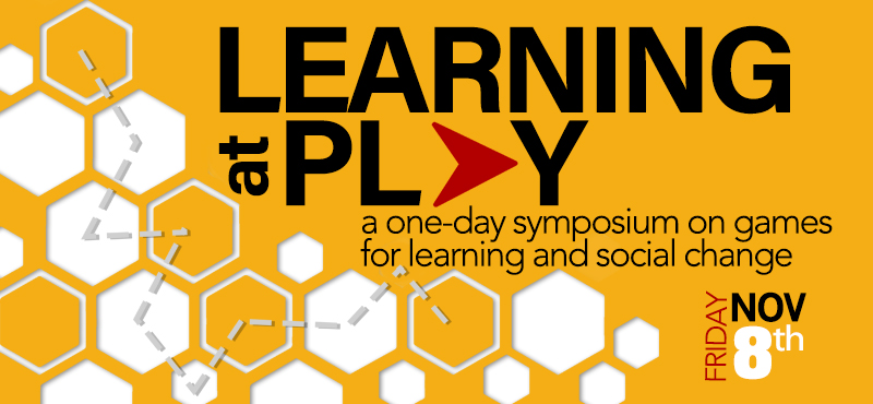 Learning at Play: a one-day symposium on games for learning and social change