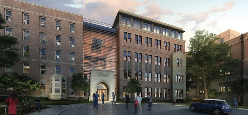<font color=bec34c><strong>Pioneering Vanderbilt School of Nursing building designed with health in mind</strong></font><br />Health and well-being inform every part of Vanderbilt University School of Nursing's new $23.6 million building expansion, opening Jan. 22.