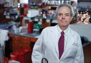 MacRae Linton, M.D., is studying the role of the macrophage in atherosclerosis. Photo by John Russell.