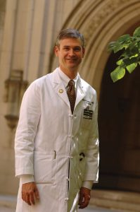 David Charles, M.D., assisted with the first DBS case at VUMC in 1995.