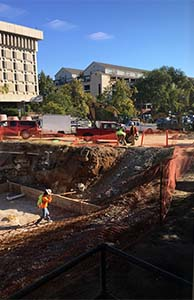 Excavation pit for VUSN building 2017
