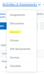 How do I view specific quiz questions after the quiz is