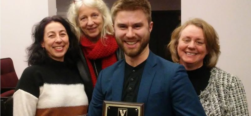 French Student Jacob Abell receives the Outstanding Graduate Student Teaching Award 2019