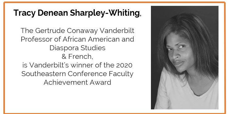 French faculty member, Tracy Sharpley-Whiting, wins SEC Faculty Achievement Award