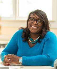 Nicole Joseph is creating welcoming spaces for students of color, particularly women, who are pursuing careers in mathematics. (John Russell/Vanderbilt)