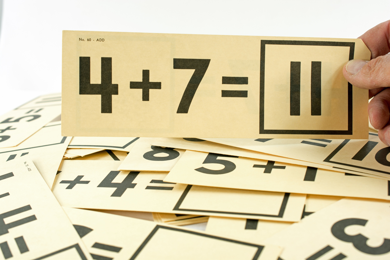For most people, math is synonymous with flash cards and memorization. But that's not the whole story, researchers say. (iStock)