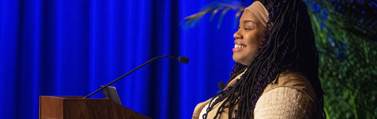 Best-selling author Angie Thomas visited Vanderbilt for a keynote lecture and Q&A