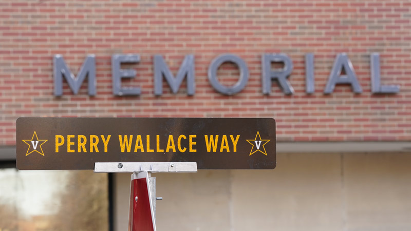 Perry Wallace Way Street Sign