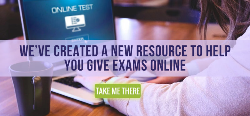 Giving Exams Online: Strategies and Tools
